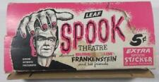 LEAF SPOOK STORY THEATRE GUM CARD DISPLAY BOX 1961 FRANKENSTEIN
