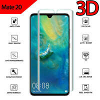 For Huawei Mate 20 Full Coverage 3D Curved Tempered Glass Screen Protector Clear