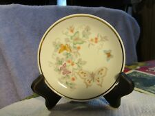 Avon Vintage Butterfly/Flower Mini/Small Jewelry Plate/Saucer-22K Gold Trim-1979