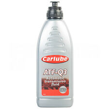 Carlube ATF-Q3 Automatic Dexron 3 Transmission Power Steering Gearbox Fluid 1L