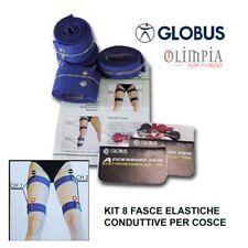 GLOBUS - Kit 8 FASCE ELASTICHE CONDUTTIVE PER COSCE e GAMBE x ELETTROSTIMOLATORE