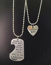 Daddys Girl Father Daughter She Stole My Heart Calls Me Daddy Heart Necklace Tag