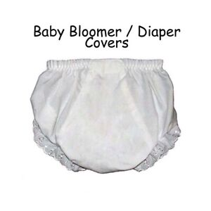 Baby Diaper Covers Bloomers Embroidery Blank - White