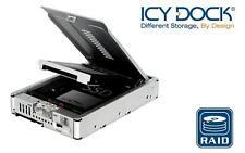 "New ICY Dock MB982SPR-2S R1 2 bay Dual 2.5"" RAID SATA HDD Hard Drive Converter"
