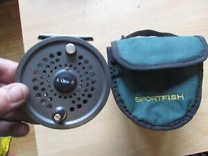 """V good orvis battenkill disc england 10/11 salmon fly fishing reel + case 3.75"""""""