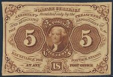 Fr1231 5¢ 1St Issue Fractional Currency Choice Cu S.E. W/O Monogram Bt696