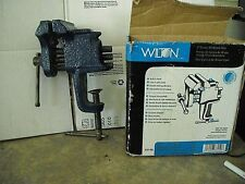 """WILTON 3"""" Jaw Clamp-On Bench Vise 2.5"""" Opening 2-5/8"""" Depth -NO. 33150-GD. USED"""