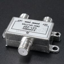 2-Way TV Satellite Cable Splitter for Sky Virgin Media etc 5-2400MHZ 53x45x14mm
