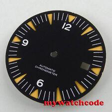 31mm black sandwich sterile dial luminous Watch Dial for 2824 2836 Movement D92