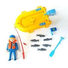 Playmobil AX-17 Boat Fish Man Fishing Pole Set - EC