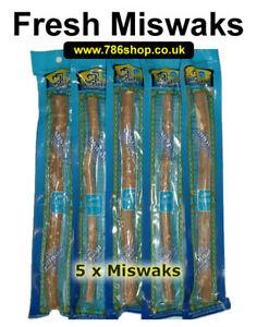 Natural Fresh Miswaak Toothbrush Miswak x 5 Arak, Siwak, Peelu ( Brand New )
