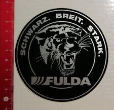 Aufkleber/Sticker: Fulda Reifen - Schwarz Breit Stark (12041730)
