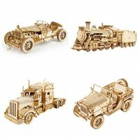 Robotme Laser-Cut 3D Puzzle Train Wooden Truck Toy Gift for Teens Children Boys