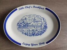 More details for vintage/rare little chef oval breakfast plate.