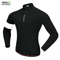 Autumn Winter Cycling Jacket Long sleeve Jersey Thermal Fleece Warm Bike Bicycle