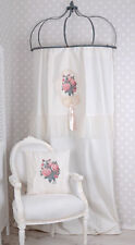 Curtain Country Style Scarf Vintage Blind Linen-Look Opaque Roses Lace