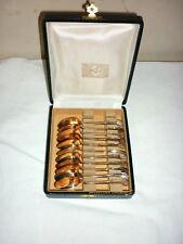CHRISTOFLE coffret 11  cuillères expresso moka Vendôme coquille métal argenté