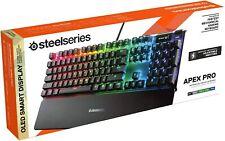 SteelSeries Apex Pro – Mechanische Gaming- Deutsches -Tastatur Neu