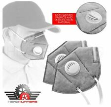2x Motorcycle Unisex Adult PM 2.5 Pollen Dust Haze Anti-fog Mask Filter Gray