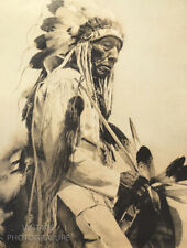 1900/72 Vintage Matted EDWARD CURTIS Native American Indian CHEYENNE CHIEF 16X12