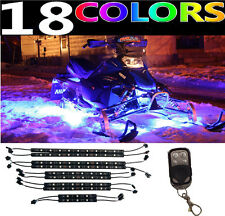 10pc LED YAMAHA SIDEWINDER BTX RTX SNOWMOBILE GLOW LIGHT KIT wKEYCHAIN REMOTE