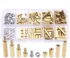 120pcs M3 Male Female Brass Spacer Standoff Screw Nut Assortment Kit
