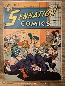 Sensation Comics #50/Golden Age DC Comic Book/VG