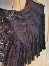 Phase Eight Lace Tiered Gypsy Long Skirt 12 Hippie Boho Steampunk Lagenlook