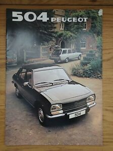 1981 Peugeot 504 Car Sales Brochure GR/ Estate/ Family/ Diesel