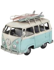 Vintage Blue Volkswagen Camper Van Car Retro Model Toy Figure Vehicle Ornament