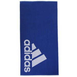 Adidas Large Cotton Towel Sports Training Gym Yoga Beach Swim Pool Blue FJ4772