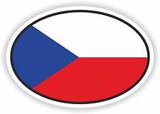 Czech Republic Flag oval STICKER bumper decal car helmet laptop