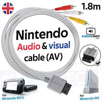 Nintendo Wii TV Cable Wii U AV Lead Composite Audio Video Wire RCA 1.8M RVL-009