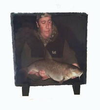 PERSONALISED FISHING PHOTO SLATE  IDEAL FOR BIRTHDAY , CHRISTMAS FREE P&P