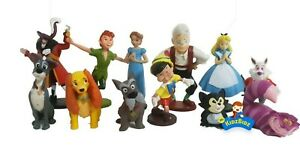 Disney CLASSICS Cake Toppers / 12 Figures (Peter Pan Alice Pinocchio Tramp)