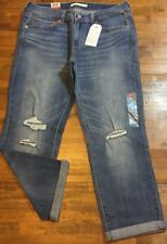 LEVI'S BOYFRIEND RELAXED FIT DISTRESSED JEANS - Women's 6 (Medium Wash) NWT