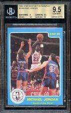 1986 Star Best Of The New&old Michael Jordan #2 BGS 9.5 Gem Mt W Original 10 Sub
