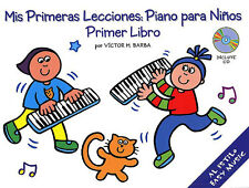 Mis Primeras Lecciones Piano Para Ninos Primer Libro Learn Play Music Book & CD