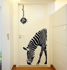 Black Zebra Art Wall Decal Decor Room Stickers can Removable Paper Home Mural SU