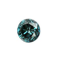 Diamant 0.07 Karat rund, Fancy Farbe Blau(behandelt) aus Afrika - sehr gut, SI2