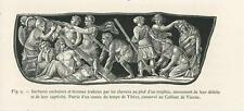 ANTIQUE TIME OF TIBERIUS BARBARIANS SORROW HISTORY SMALL MINIATURE ART PRINT
