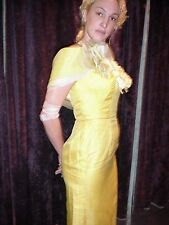 Vintage Strapless 1960s Cocktail Dress w/Matching Wrap NWOT Yellow