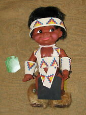 "Regal LIL CUBBY 13"" Vinyl Indian Boy Doll (1960s-70s) OGLALA SIOUX RESERVATION"