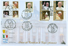 Papa Francesco I Coronation: Vatican, Italy and Argentina on 1 FDC!