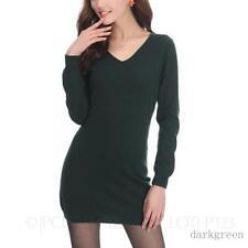 Damen-Pullover mit mittlerer Strickart V-Ausschnitt S