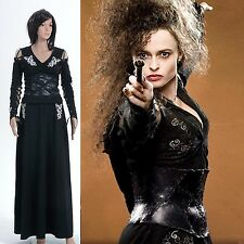 Harry Potter cosplay Bellatrix LeStrange Nero Gonna Dress Costume Vestito Misura