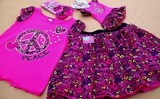 WHAT A DOLL 2 PCS SKIRT OUTFIT & set for AMERICAN GIRL DOLL +HAIR BOWS 6/6X