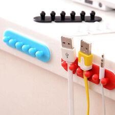 2pc Wire Cord Clip Cable Line Holder Tie Fixer Organizer Drop Adhesive Clamp New