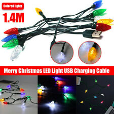 Merry Christmas light LED USB cable DCI Charger lighting cord iPhone 5 6 7 8 X