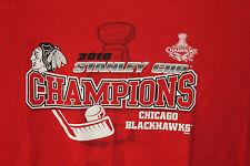 Chicago Blackhawks 2010 Stanley Cup Champs Ladies Juniors Fit T-Shirt Size M